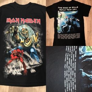 Tops - Rare Iron Maiden Concert Tee. The Book Of Souls